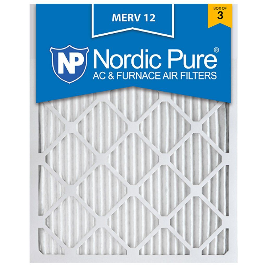 Best furnace air filters for allergies - Home Ac Air Filter 16x25x1 Hvac Allergy Dust Merv 12 Furnace Nordic Pure 11 Removes