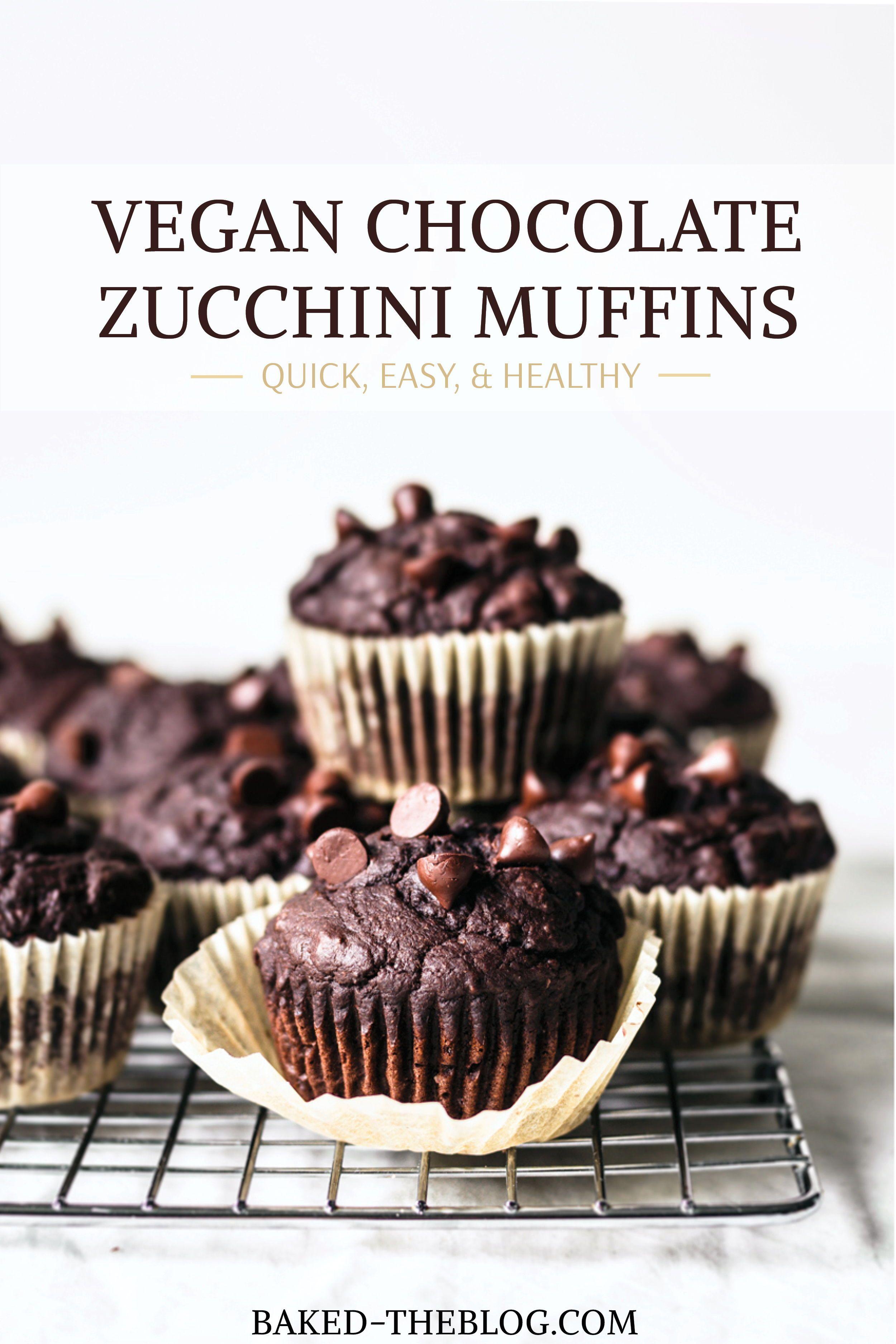 Chocolate Zucchini Muffins Vegan Baked Recipe In 2020 Chocolate Zucchini Muffins Chocolate Zucchini Vegan Chocolate