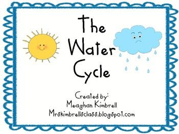 The water cycle kindergarten chart and activity neat school ideas pinterest activities also rh
