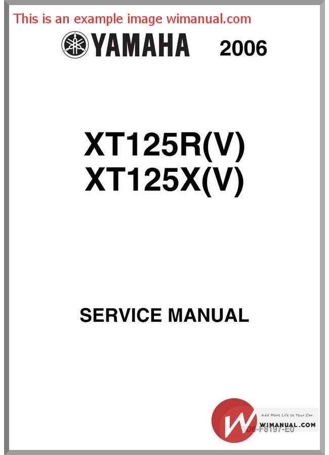 Yamaha Xt 125 Service Manual With Images Yamaha Manual Service