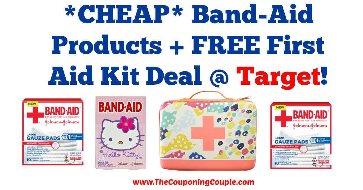 REALLY GREAT DEAL! *CHEAP* Band-Aid Products + FREE First Aid Kit Deal @ Target!  Click the link below to get all of the details ► http://www.thecouponingcouple.com/cheap-band-aid-products-free-first-aid-kit-target-deal/ #Coupons #Couponing #CouponCommunity  Visit us at http://www.thecouponingcouple.com for more great posts!