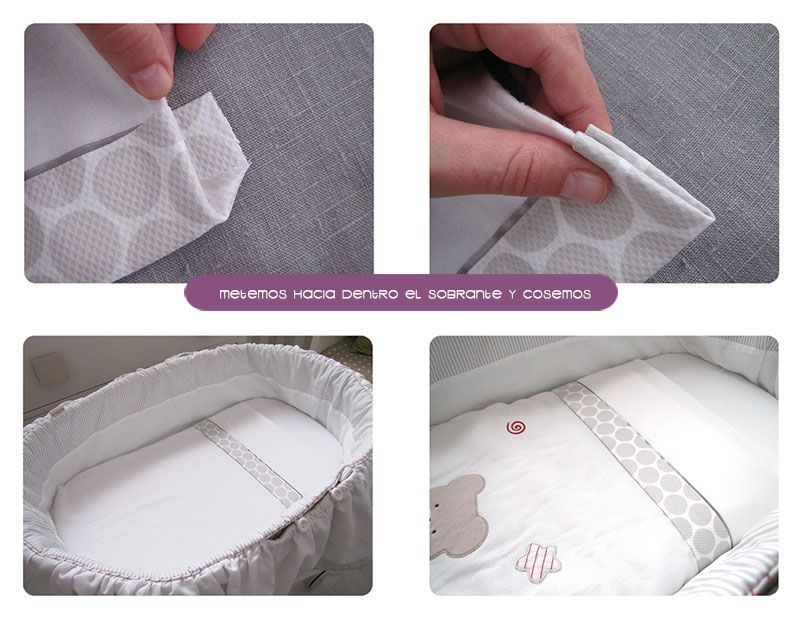 Cómo hacer un juego de sábanas para moisescochecito #DIY