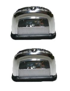 Bmw E10 1602 2002 2002tii License Plate Lights Set Of 2 Genuine License Plate Bmw Lights