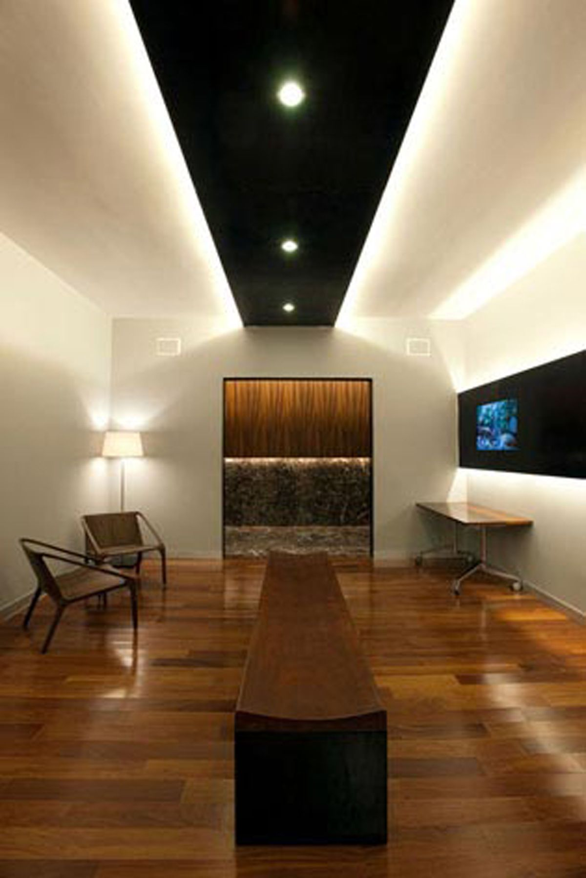 contemporary office design with wooden material in mexico city boardroom overlook pinterest office designs