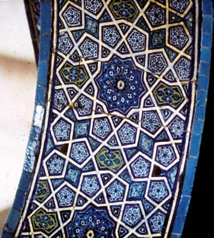 Geometric Patterns An Archway In The Sultan S Lodge In The Ottoman Green Mosque In Bursa Turkey 1424 Its Girih Strap Islamic Tiles Geometric Tile Patterns