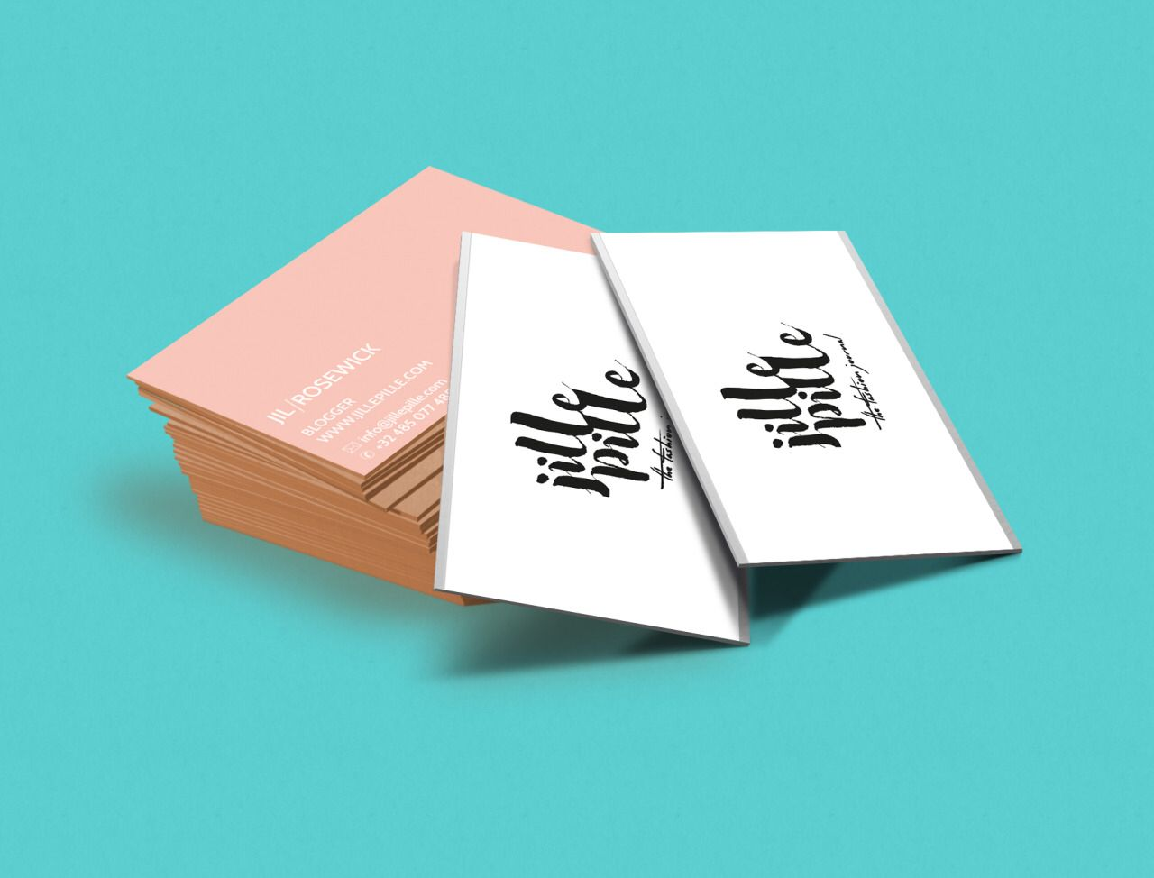 jillepille business card with silver optics. mndyhrmns.tumblr.com ...