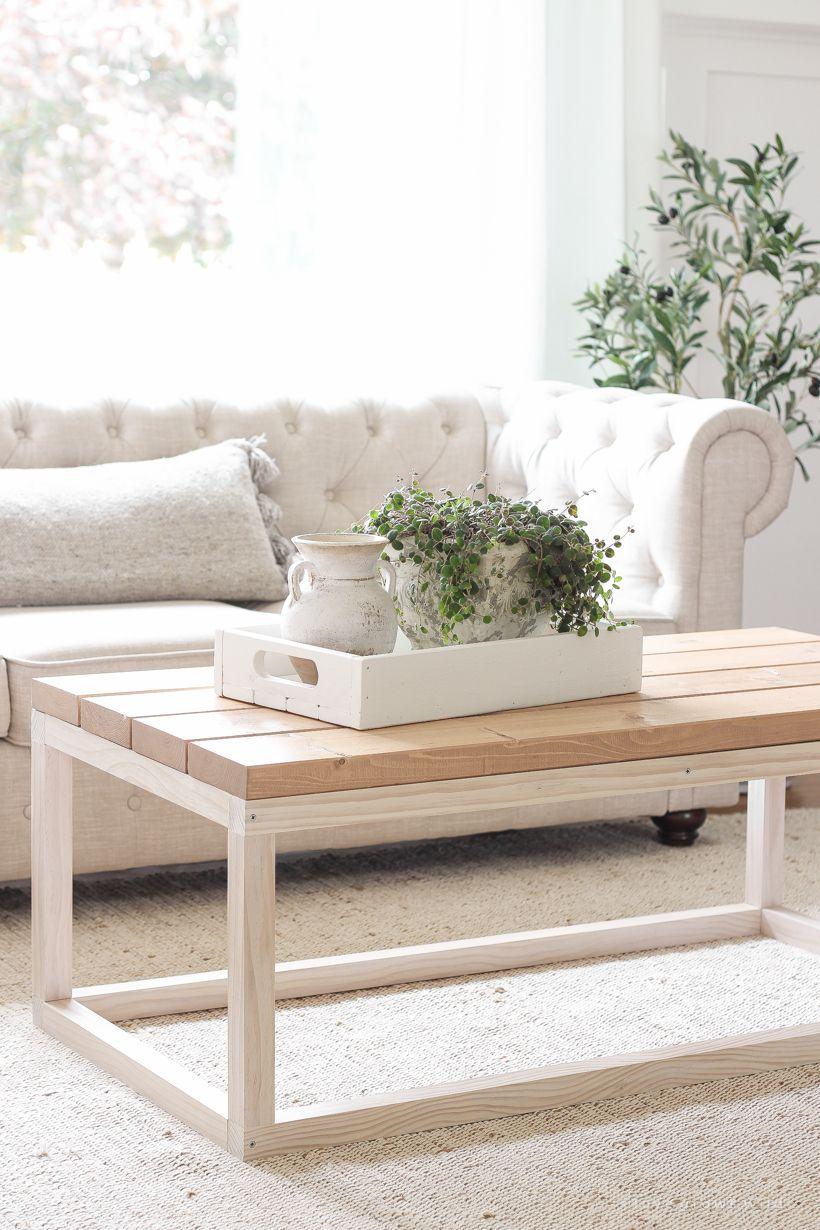 Simple Diy Coffee Table Love Grows Wild In 2020 Diy Furniture Easy Diy Coffee Table Coffee Table