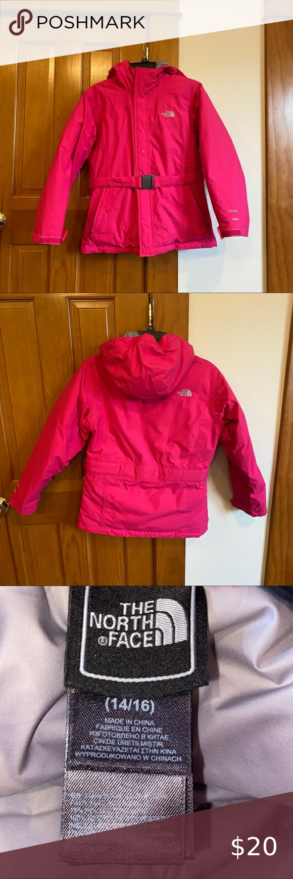 The North Face Girls Hyvent 550 Jacket North Face Girls Pink Winter Coat North Face Coat [ 1740 x 580 Pixel ]