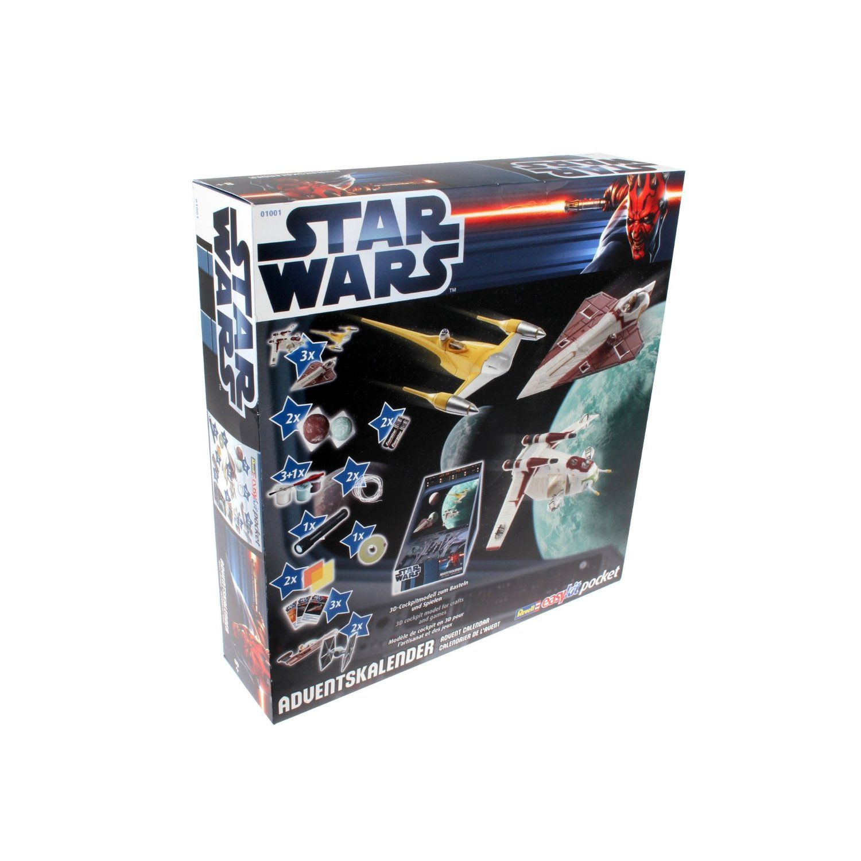 Der Revell 01006 – Star Wars – Adventskalender 2012 bietet kleine Modelle zum Basteln und Spielen, so dass man Planeten, aber auch Raumschiffe zusammenbasteln kann, die man von der Star Wars Saga kennt.