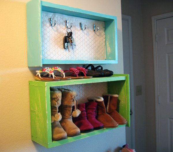 Upcycle old dresser drawers