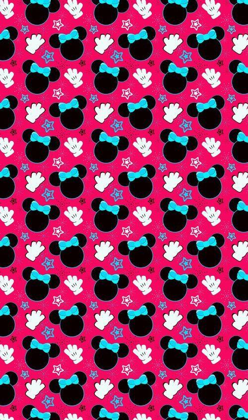 Image Via We Heart It Pattern Minniemouse Wallpaper