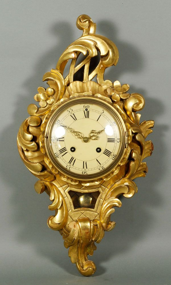 Westerstrand wall clock, with carved gilt wood rococo case | DeCoR ...