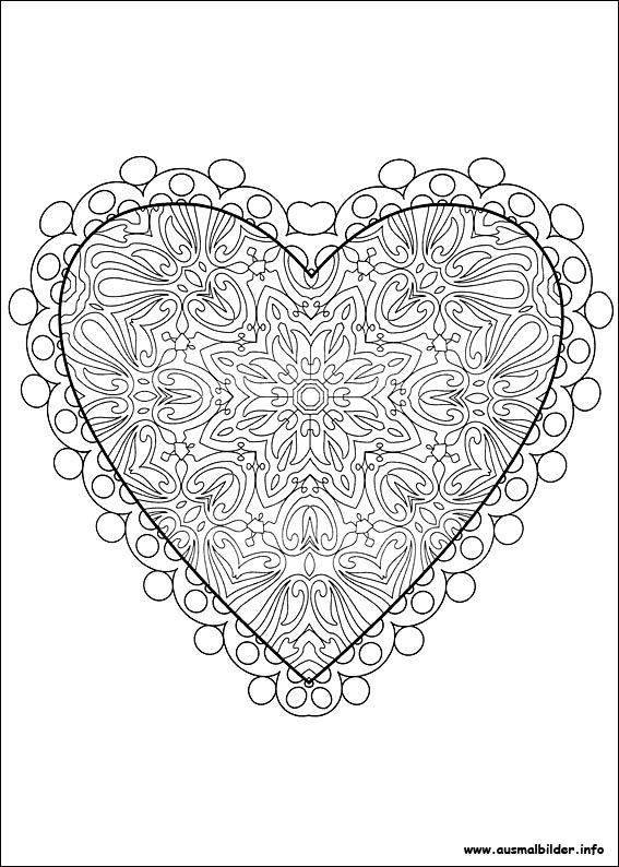 valentinstag malvorlagen  valentines day coloring page