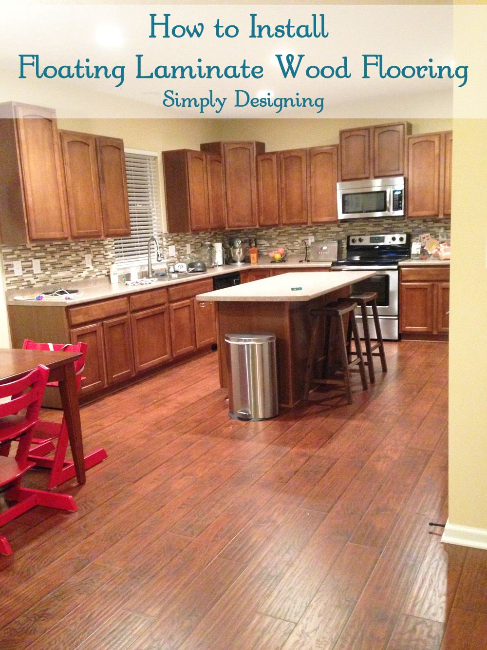 How To Install Floating Laminate Wood Flooring Diy Homeimprovement Simply Designing