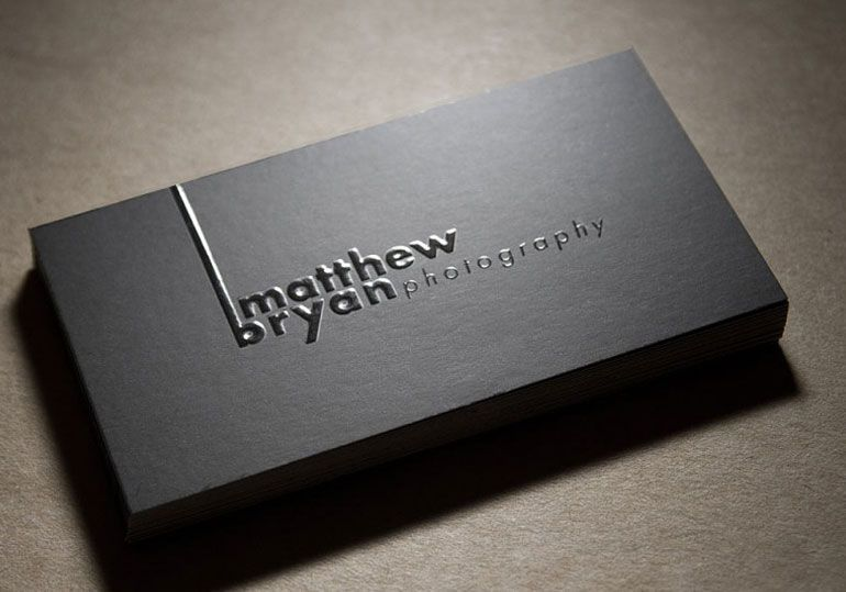 Modern black business cards for photography name card brochure modern black business cards for photography colourmoves