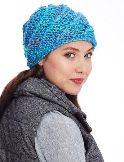 Slanting Stitch Hat Patterns Yarnspirations C K Hat