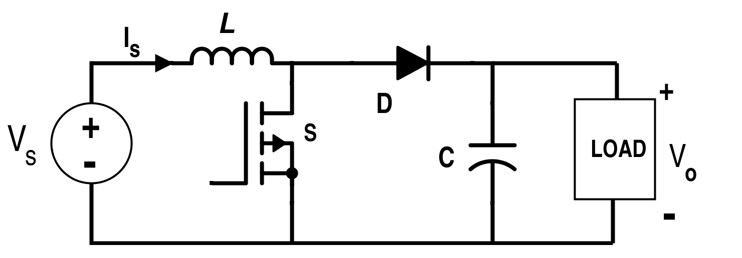 BoostConverter circuit is a DC-to-DC power converter