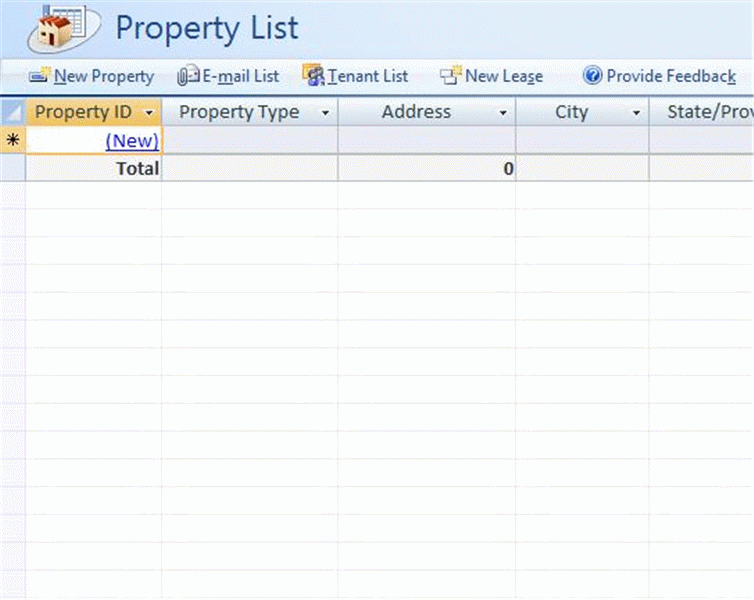 Real Estate Property Database For Microsoft Business Access Inventory Management Templates Inventory Management Software Access Database