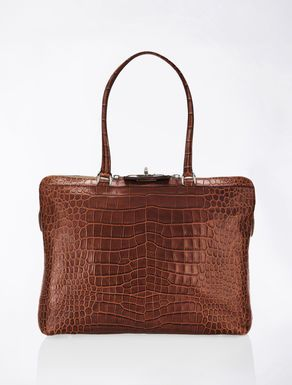 Margaux leather shopper bag