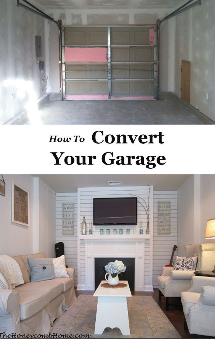 How we converted our one car garage into a family room for extra living space. & How we converted our one car garage into a family room for extra ...