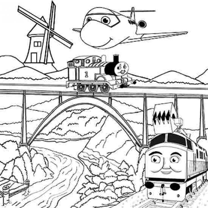 Free Cartoon Coloring Page Of Thomas And Friends For Kids | Fun ...