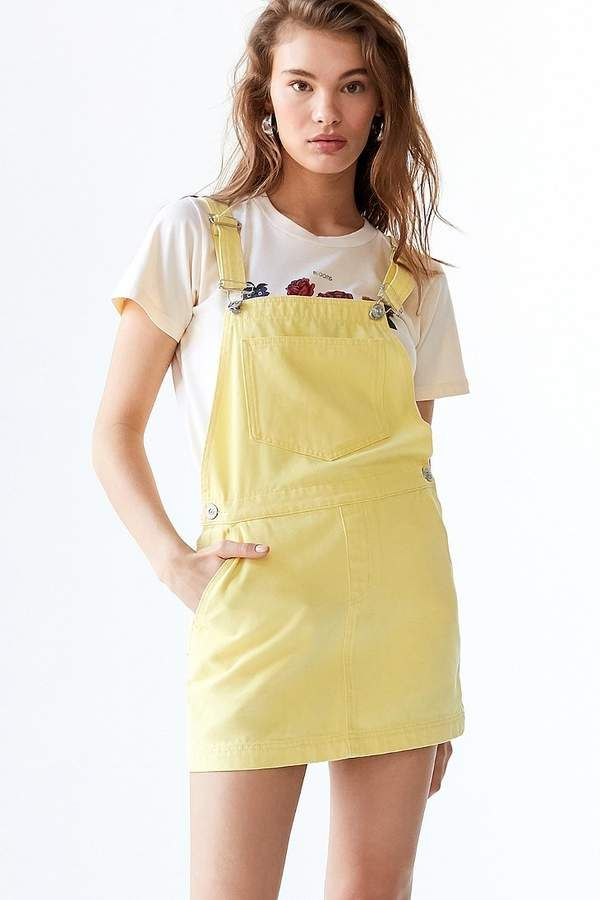 74f510648a2c2 Yellow Overall Dress. Urban Outfitters UO Pinne Canvas Skirtall ...