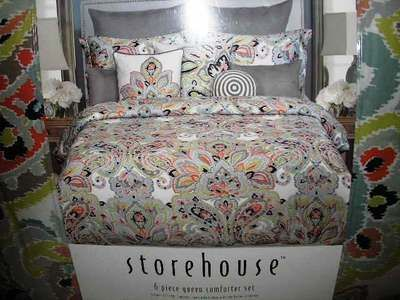 Master Bedroom Bedding Storehouse Multicolored Ikat Damask Bedding Master Bedroom Master Bedroom Bed