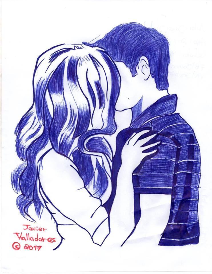 Dibujo A Tinta De Pareja Besandose Besos De Parejas Dibujos De Parejas Tumblr Bocetos De Parejas