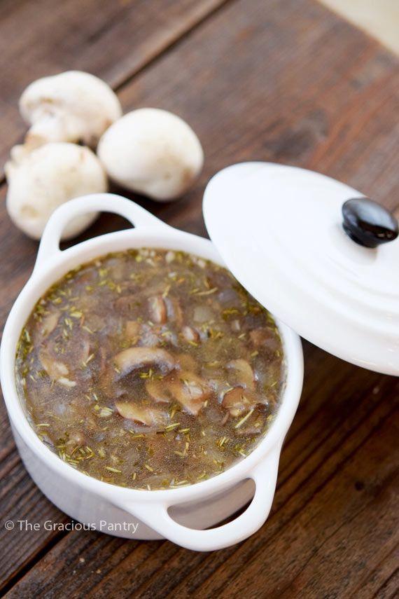Bone Broth Soup Recipe The Gracious Pantry Healthy Soup Recipes Recipe Mushroom Soup Recipes Broth Recipes Bone Broth Soup Recipes