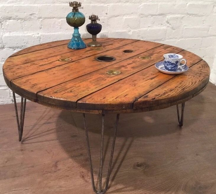 Diy Shabby Chic Coffee Table: Industrial Rustic Shabby Chic Upcycled Cable Reel Drum