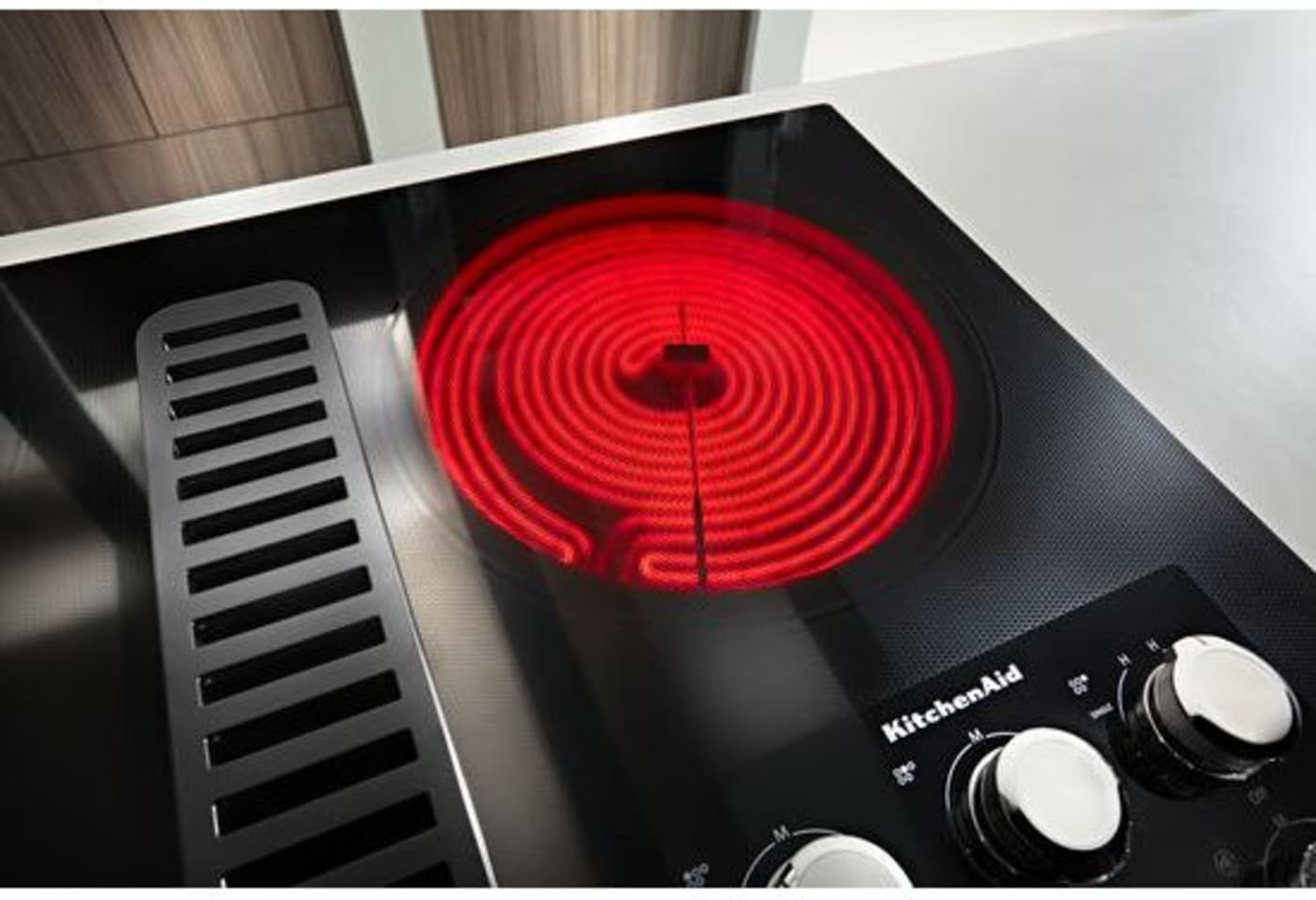 Kced606gbl by kitchenaid electric cooktops goedekers