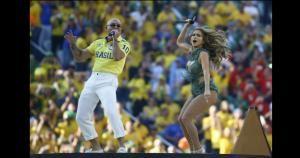 El Pitbull y Jennifer López cantaron el tema oficial del mundial. June 12, 2014.