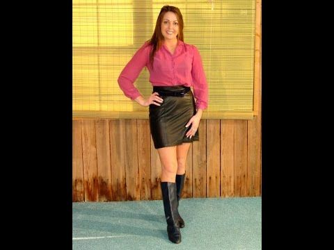 Emmy Blk Leather Boots Dressy Dipping Dressing Up To Go Swimming