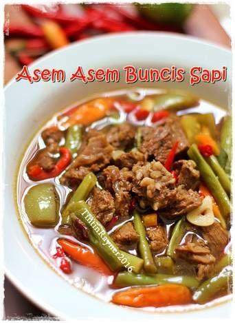Asem Asem Daging Buncis : daging, buncis, Cooking, Indonesian