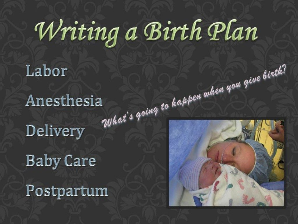 How To Write A Birth Plan Includes Sample Template