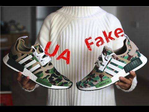 Comparison Review  Bape x Adidas NMD Camo Green --- UA vs. Fake ... eeaa86d45