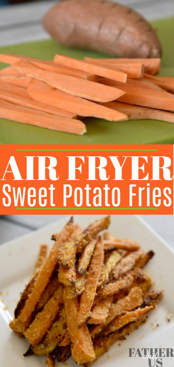 Panko Crusted Air Fryer Sweet Potato Fries in 2020 Air