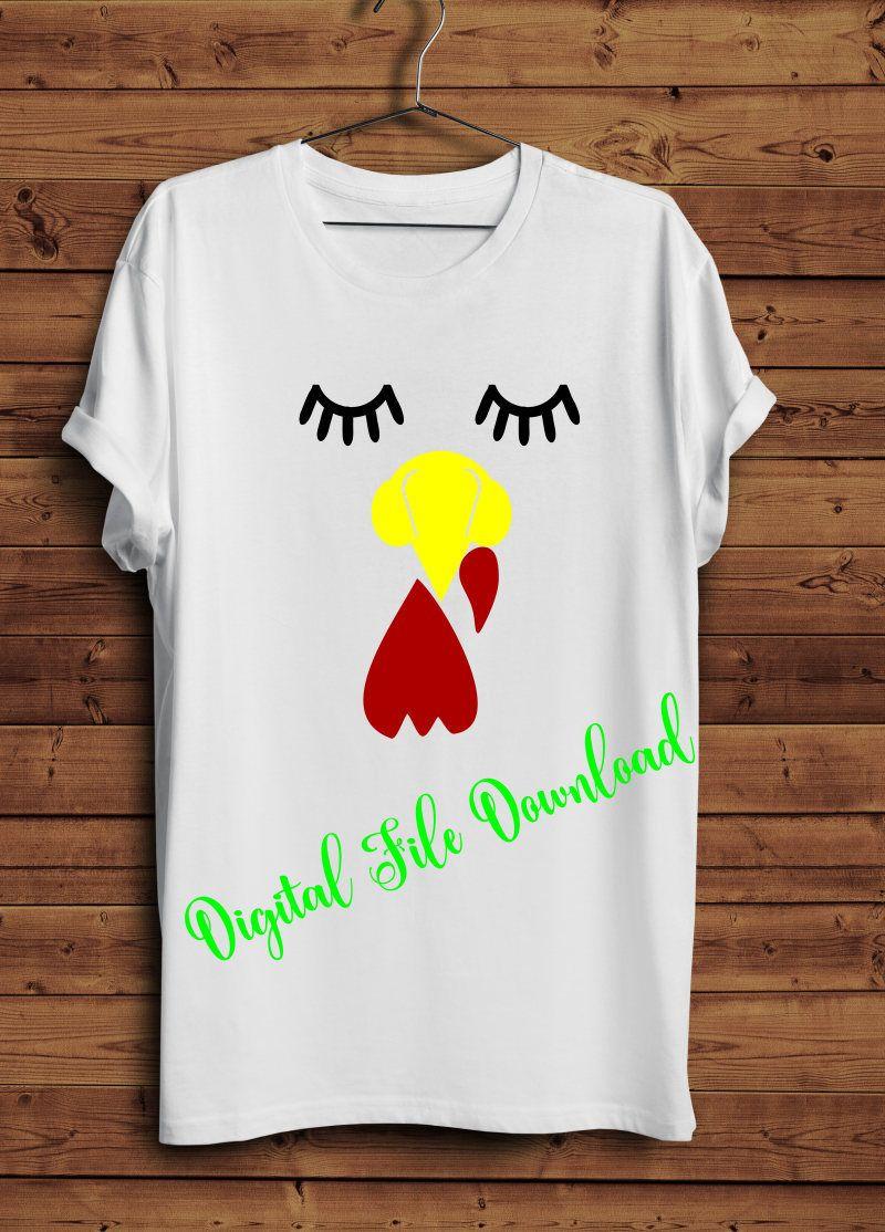eb81ac2b Svg turkey face eyelashes thanksgiving shirt SVG instant download design  for cricut or silhouette, turkey shirt svg, funny turkey face svg by  SparkleVinyl ...