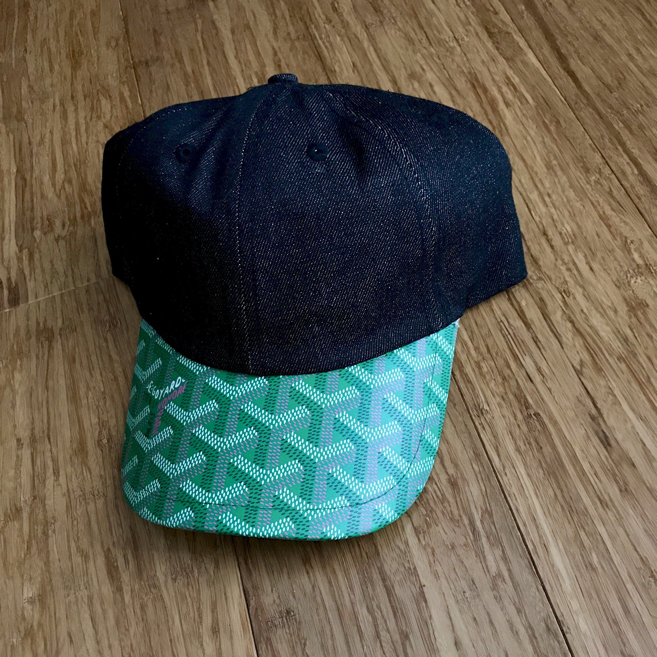 6715519af38 Black Denim   Green Goyard