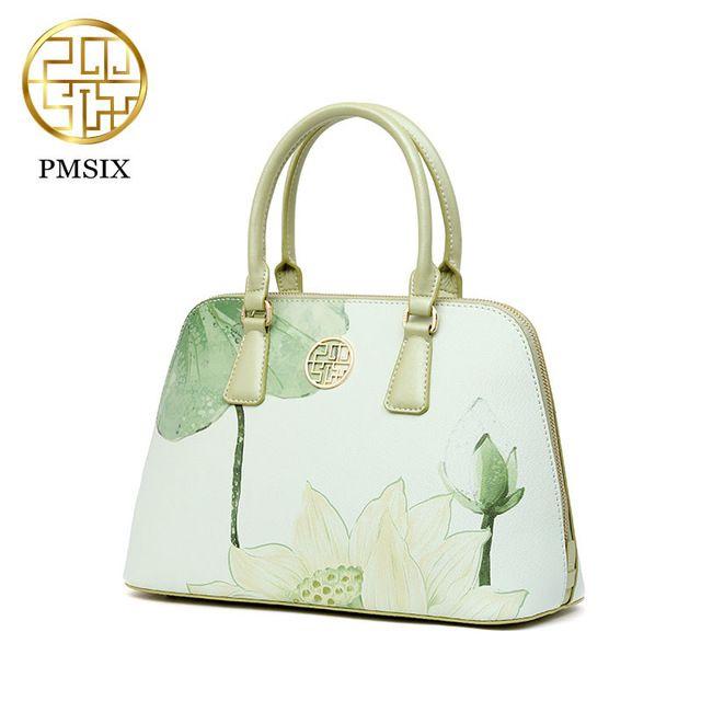 PMSIX brand 2019 designer luxury brand high quality split leather ladies  light green fashion handbag shoulder bag female handbag Review d1cd13f2e853a
