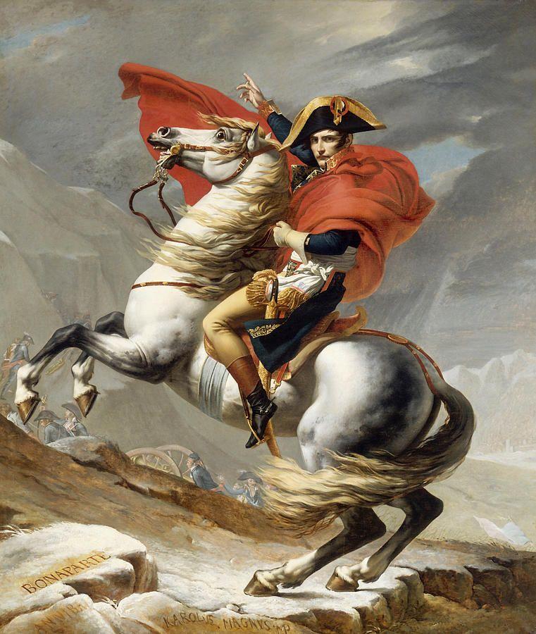 Napoleon Bonaparte On Horseback Painting  - Napoleon Bonaparte On Horseback Fine Art Print