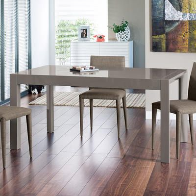 Extending Gloss Dining Table Stone From Dwell