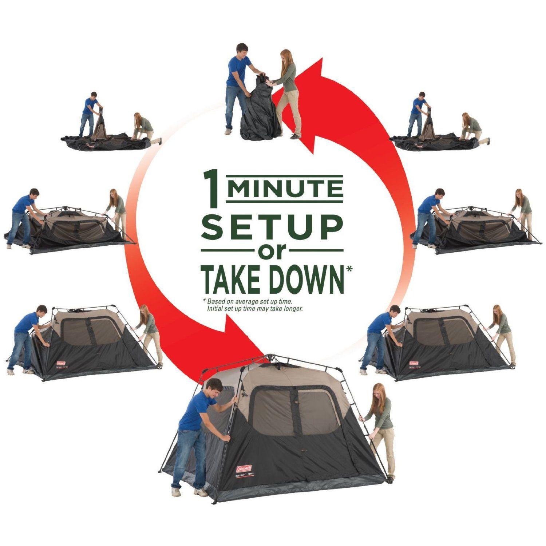 Amazon.com  Coleman 6-Person Instant Tent  Family Tents  Sports u0026  sc 1 st  Pinterest & Amazon.com : Coleman 6-Person Instant Tent : Family Tents : Sports ...