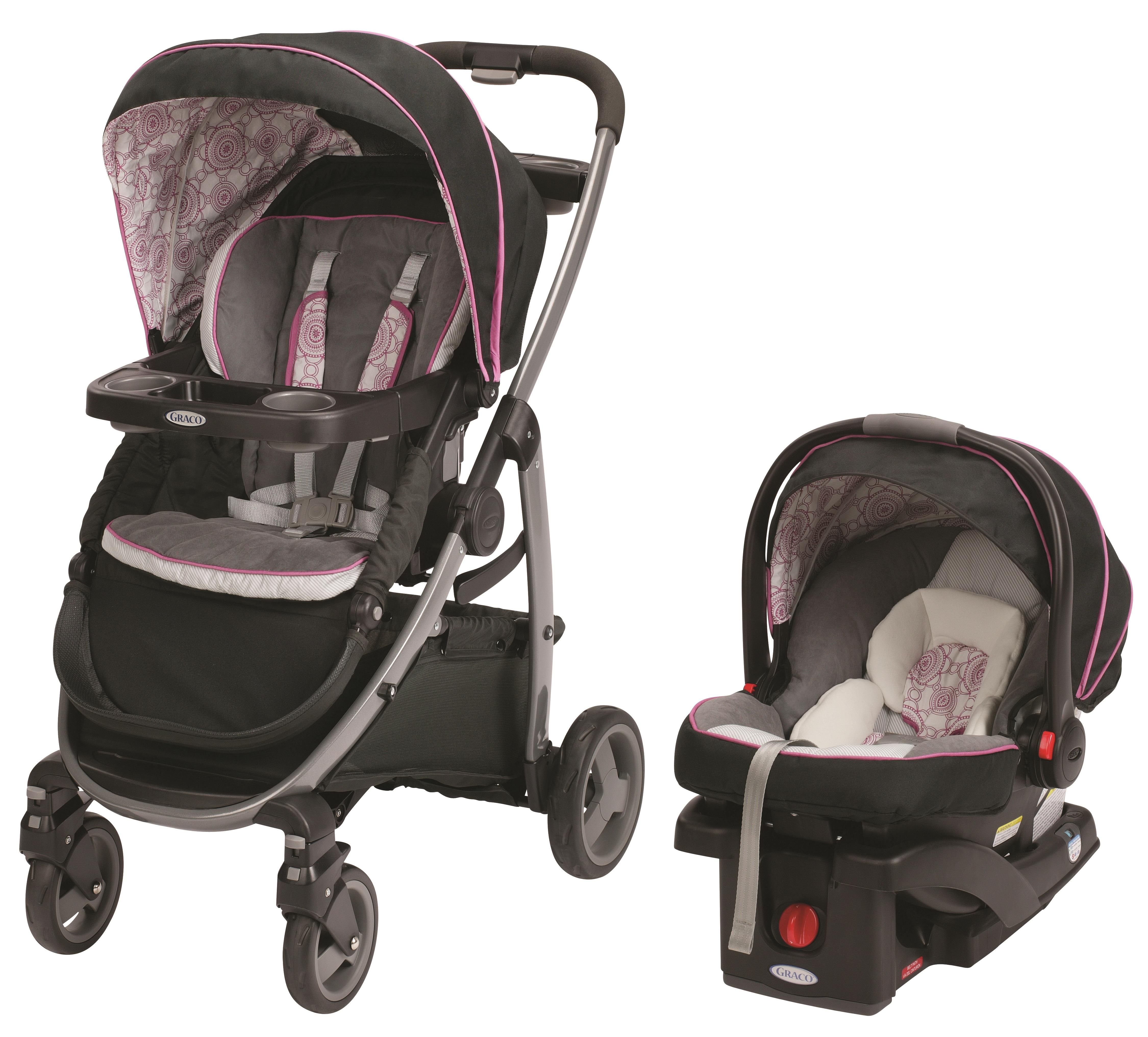 Graco 174 Modes 3 In 1 Stroller In Fashionable Pink And