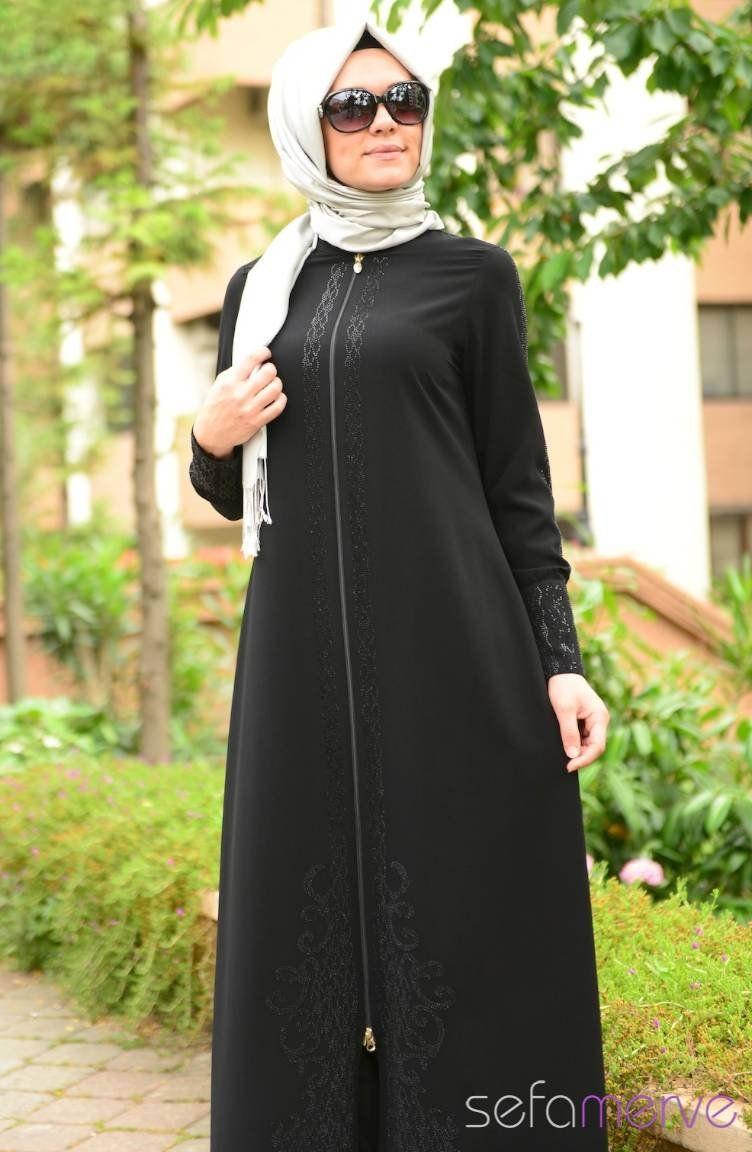 388e959760b0a Yeni Sezon Şükran Ferace 35544-01 Siyah | hijab