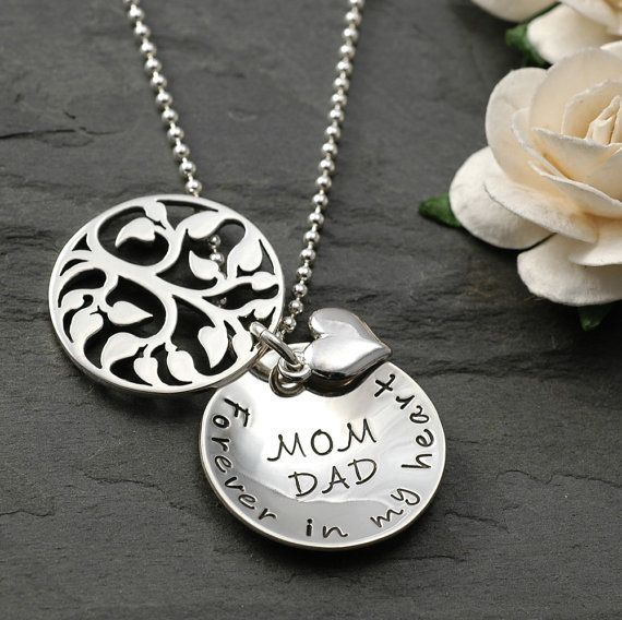 Hand Stamped Sterling Silver Gift from Bride All We Are or Hope From Daughter to Mother Gift for Mom Jewelry