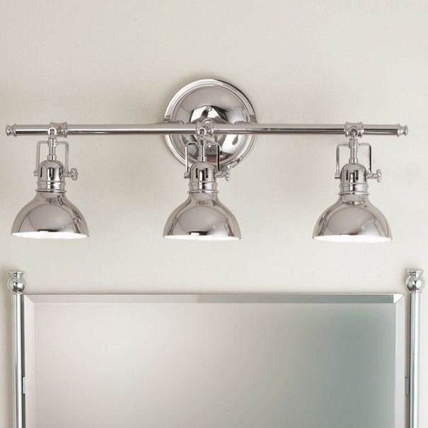 Photo of Chic, elegant and unique, this washbasin lamp has a clean, refined look with …