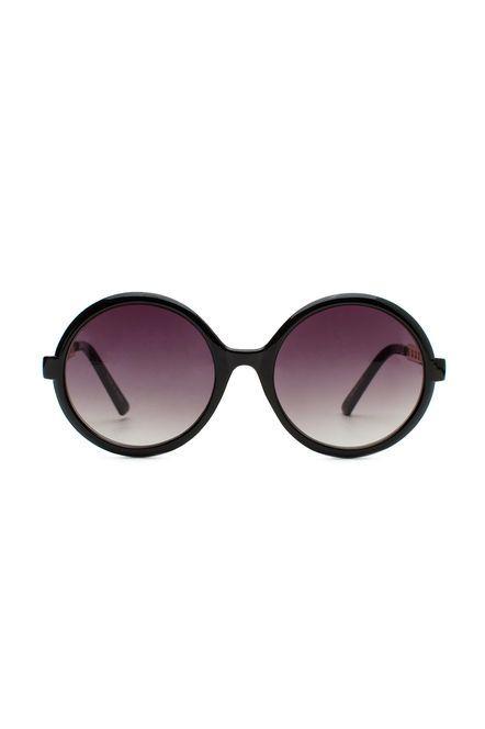 Chain Temple Plastic Round Sunglasses