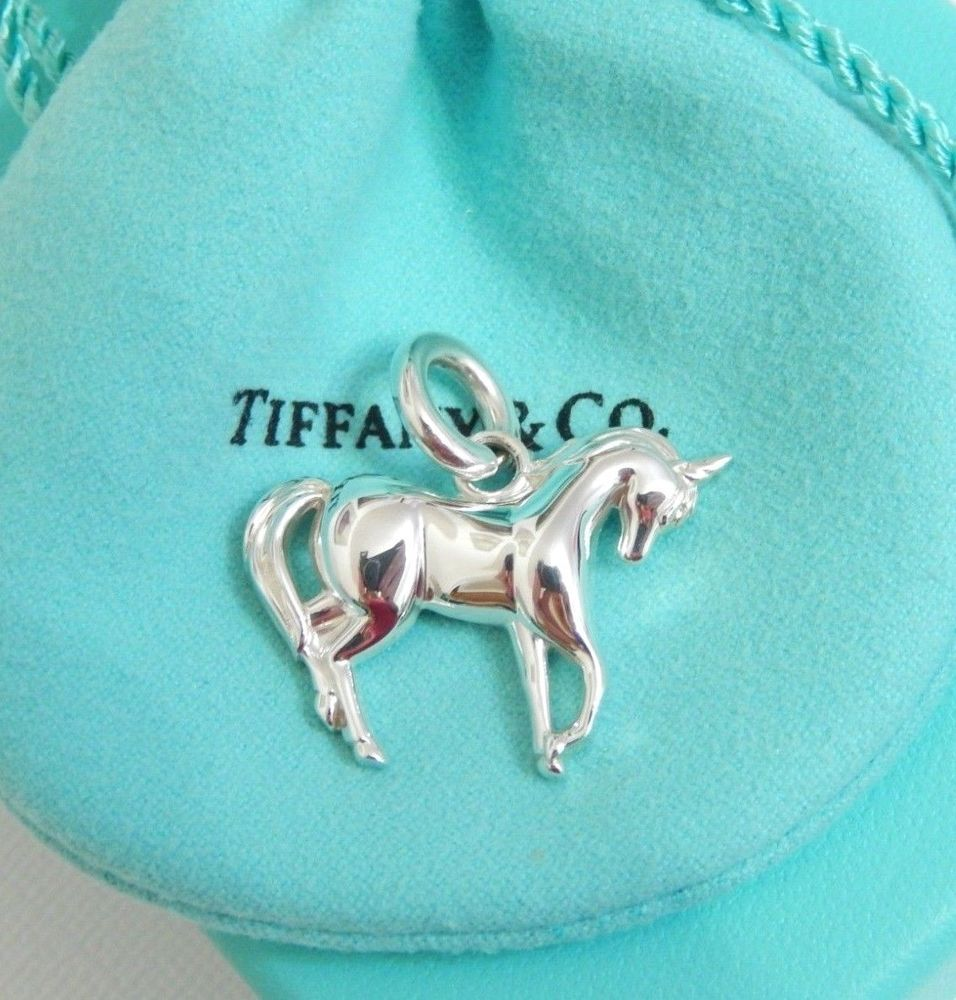 aa9f75048 Tiffany & Co Silver Unicorn Charm Pendant w/ Pouch Box Bag Mint Never Worn  Rare! #TiffanyCo #Pendant
