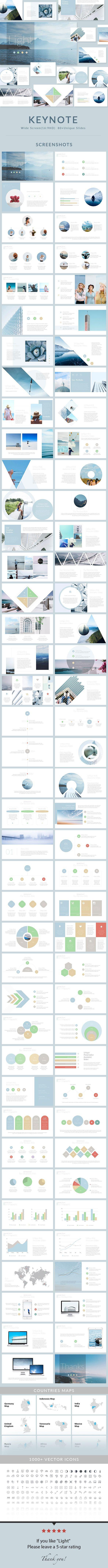 Light - Keynote Presentation Template | Portafolio, Diseño editorial ...